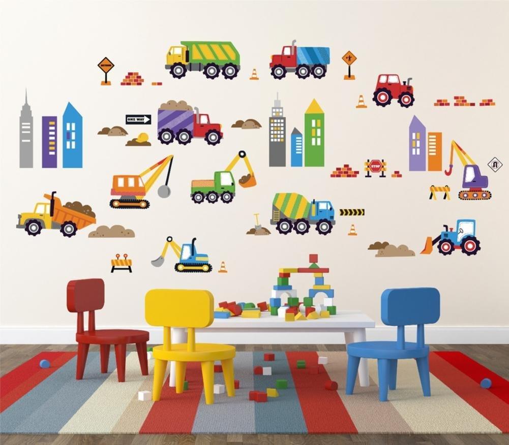 City Construction Decorative Peel & Stick Wall Art Sticker Decals CheryCreek CC1020DC