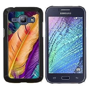 Eason Shop / Premium SLIM PC / Aliminium Casa Carcasa Funda Case Bandera Cover - Aves Pascua Yellow Spring - For Samsung Galaxy J1 J100