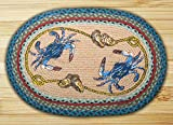 blue crab decor - Earth Rugs 65-359BC Blue Crab Oval Design Rug, 20 by 30