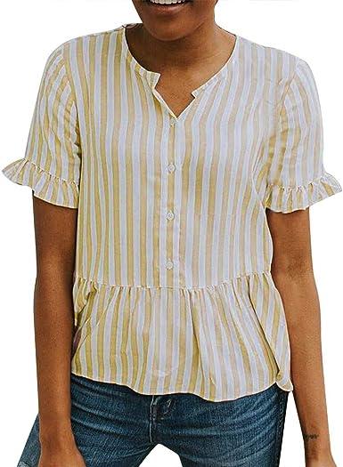 wyxhkj Mujer Camiseta Manga Corta Camisa Manga Corta ...