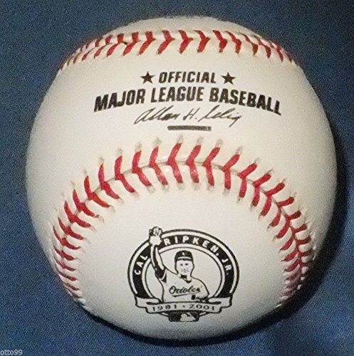CAL RIPKEN JR RAWLINGS FINAL GAME READY OFFICIAL MLB BASEBALL BALTIMORE ORIOLES