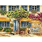 Reeves - 13060 - Peinture Par Numeros 30x40 Cm Maison Fleurie