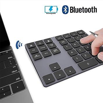 JOYEKY Teclado numérico con Bluetooth para teclado de números de silm inalámbrico de aluminio