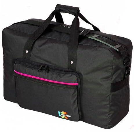 Karabar - Bolsa de viaje multicolor negro/rosa small