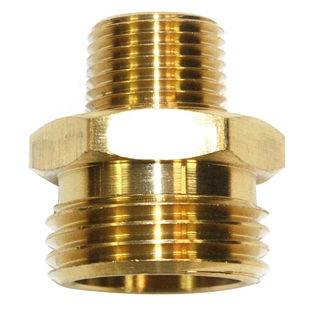 "Interstate Pneumatics FGM016 3/4"" GHT Male x 3/8"" Male NPT Hose Fitting"