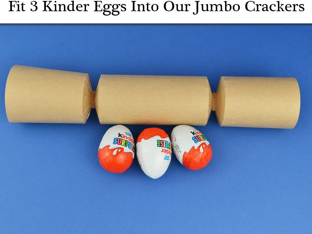8 Jumbo Sea Blue Make /& Fill Your Own DIY Recyclable Christmas Cracker Kit