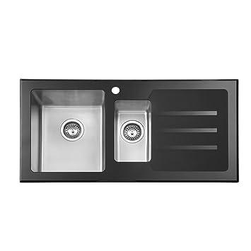 JASS FERRY - Fregadero de cocina (acero inoxidable, cristal ...