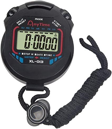 Digital LCD Handheld Electronic Stopwatch Chronograph Timer Counter Spor RQG