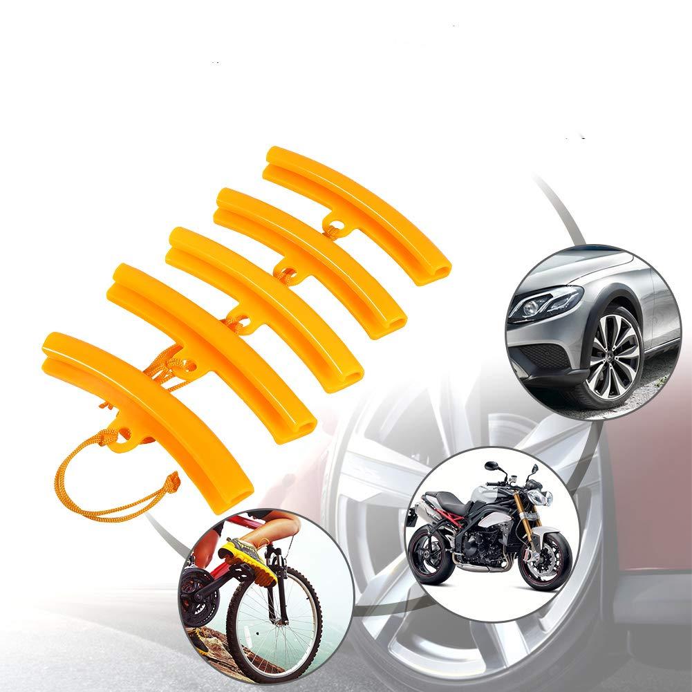 5 PCS 5.9 Inch Rim Protector Tire Changing Rim Protector for Car Motorcycle Bike Wheel Changing Rim Saver Orange