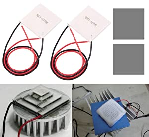 DAOKI 2PCS Thermoelectric Cooler Cooling Peltier Plate Module TEC1-12706 DC12V 5A + Thermal Conductive Pad
