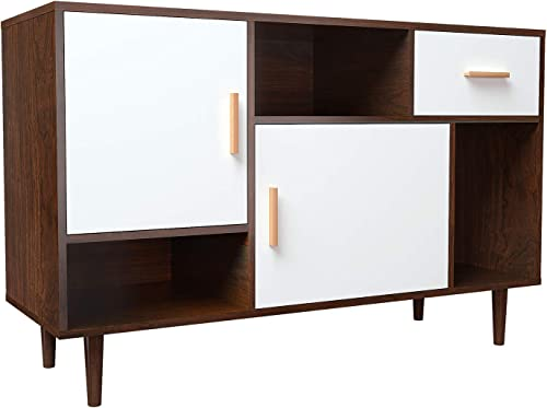 Mecor Mid-Century Modern TV Stand,Home Media Entertainment Center