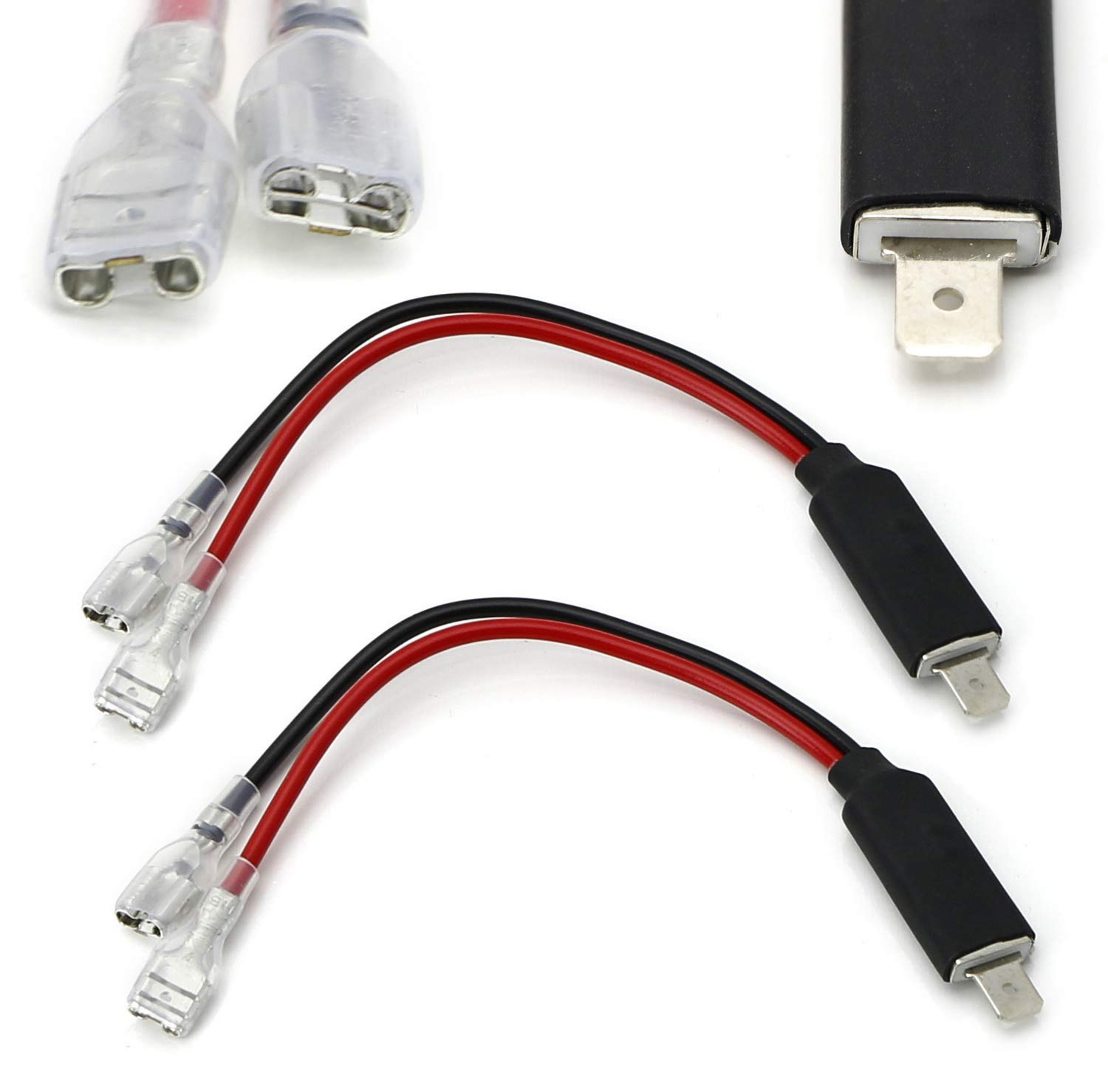 amazon com ijdmtoy (2) oem h1 socket adapter wires for hid H1 Bulb Wiring cql hid bulb h1 harness wires,hid relay