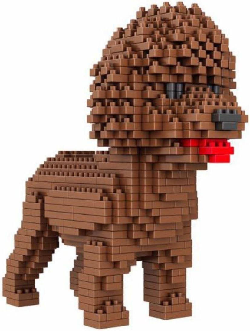 Atomic Building Figura para armar con nanobloques. 950 Piezas. Perro Caniche o Poodle.