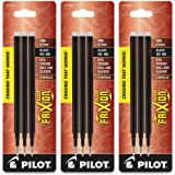 Pilot Gel Ink Refills for FriXion Erasable Gel Ink Pen, Fine Point, Black Ink, 3 Packs containing 3 refills each total…