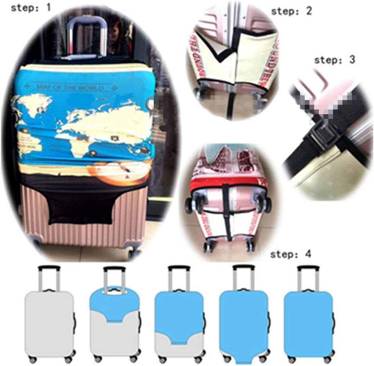 Global Brands Online Elastic Luggage Suitcase Cover Dustproof Protector Protective Bag