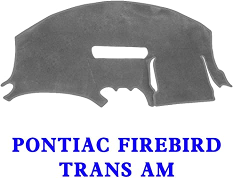 Fits 1997-2002 Seat Covers Unlimited Pontiac Firebird//Trans Am Dash Cover Custom Velour Charcoal
