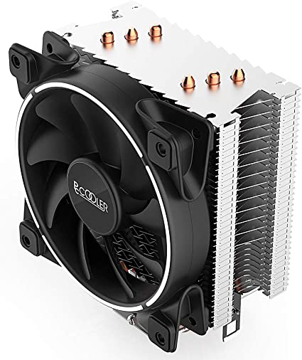SilentPro PWM CPU Fan 120mm with Corona LED White Frame Pccooler GI-X3 CPU Air Cooler Moonlight Series PC Computer Case AMD Series 3 Direct Contact Heat Pipes for Intel Core i7//i5//i3