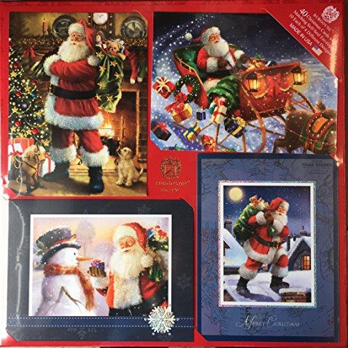 Burgoyne 40 Christmas Cards with Matching Envelopes 10 of...