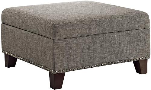 Dorel Living Square Upholstered Ottoman