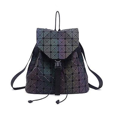 DIOMO Geometric Lingge Women Backpack Luminous Flash Mens Travel Shoulder  Bag Rucksack DIOMO-21 6caea86749