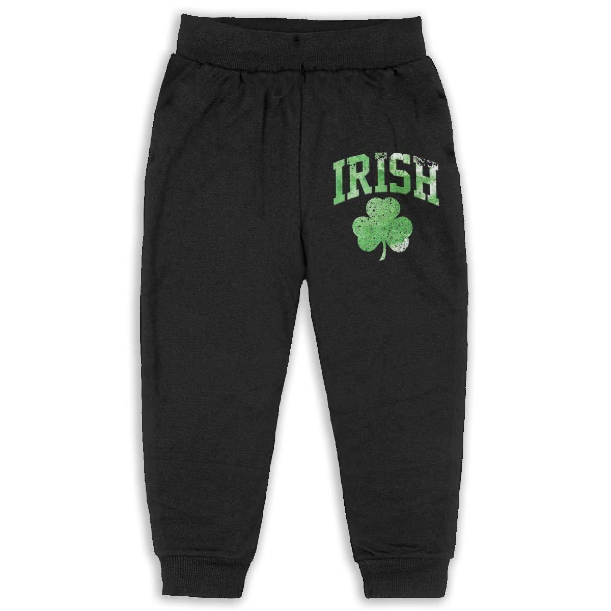 Distressed Irish St Paddys Day Shamrock Youth Soft and Cozy Sweatpants