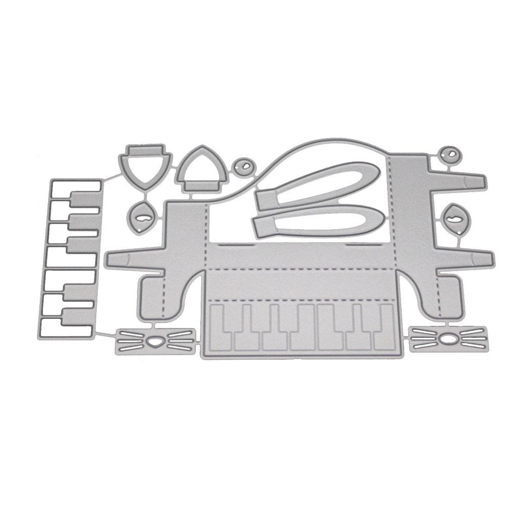Acciaio al carbonio scrapbook album per scrapbooking stencil Dabixx fustelle in metallo Happy Birthday punch biglietti Crafts 14/cmx9.9/cm//5.51inx3.90in 14cmx9.9cm//5.51inx3.90in
