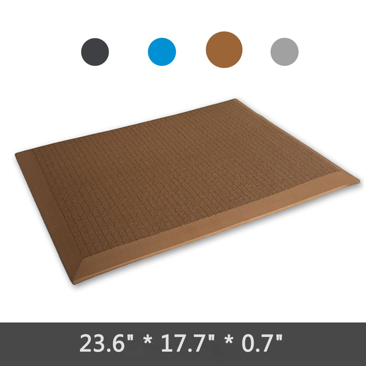 SUZM Women and Men Anti Fatigue Comfort Mat 5 Colors Waterproof Ergonomically Engineered Floor Mats for Kitchen, Rooms and Other Workstations(Black, 23.6*17.7*0.7)