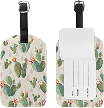 Cactus Luggage Tags Bag Travel Labels For Baggage Suitcase