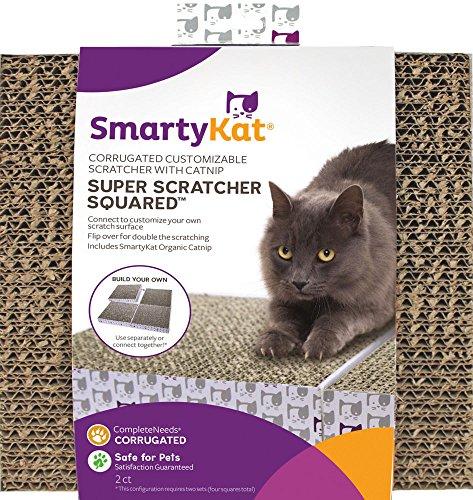 Smartykat Super Scratcher Squared Of Corrugated Cardboard Scratchers With Catnip  2 Pack
