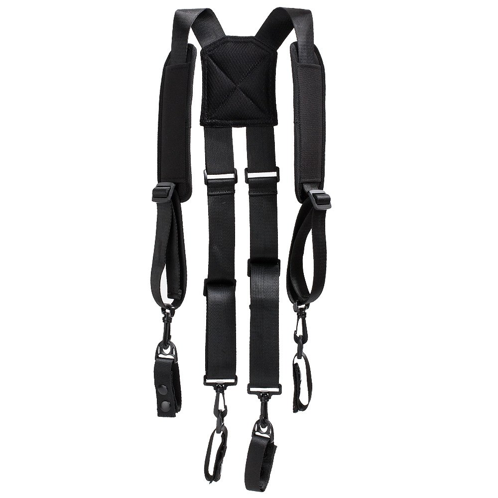 Melo Tough 1.5 ''Men Padded Adjustable Tool Belt Police Suspenders for Duty Belt