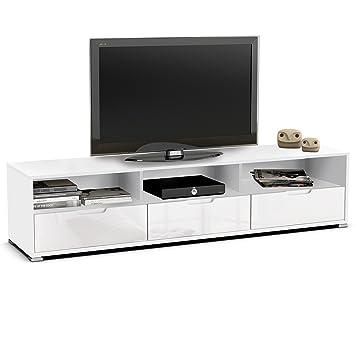 TV Muebles blanco brillante Salón mueble bajo armario Moebel ...