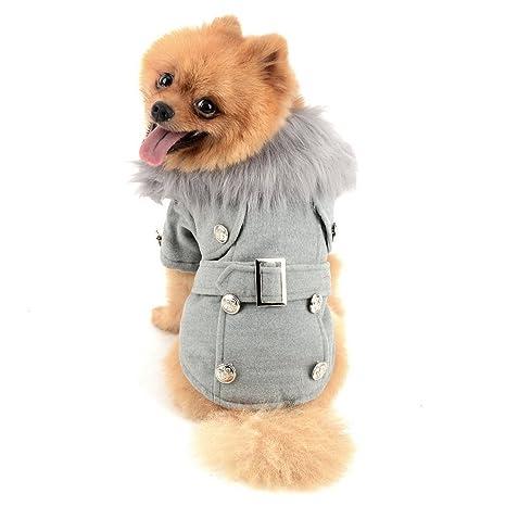 ZUNEA cazadora de lana europea pequeño perro gato abrigos de ...