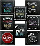 Character Education Classroom Bundle of Motivational Chalkboard Style Posters