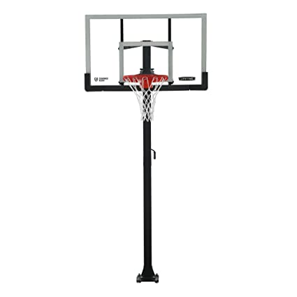Lifetime Products Crank Adjust In Ground Basketball Tempered Glass Backboard,  54u0026quot;