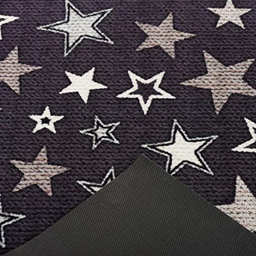 Negro Beige Pergamon Trendy Alfombra de Corredor de Cocina Estrellas 2 tama/ños