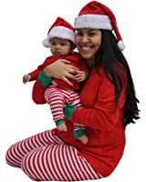 We Match! Plush Soft Deluxe Red & White Santa Hat - Infant Through Adult Sizes