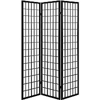 Artiss 3-Panel Room Divider Fabric Screen Folding Wooden Partition Black