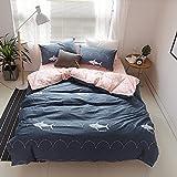 f843e908ad VClife Full Bedding Sets Navy Shark Printed Bedding Duvet Cover Sets  Comfortable Pink Duvet Cover Sets
