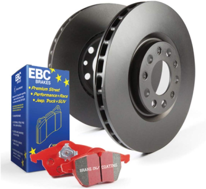 EBC Brakes S12KF1385 S12 Front Kits Redstuff and RK Rotors-Auto Version of S14 Front Kits
