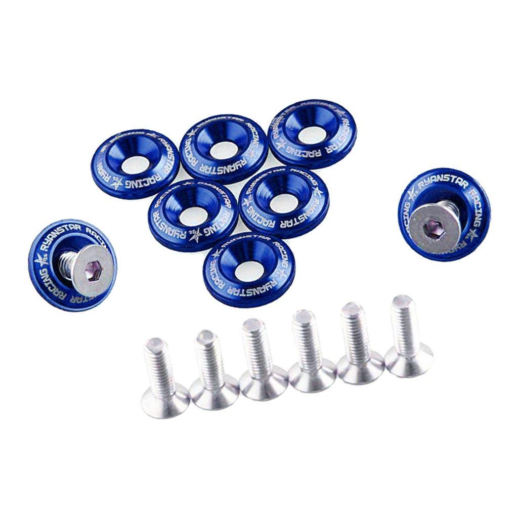 Blau Sharplace 8 x Direkt Ersatz Kotfl/ügelschrauben Unterlegscheiben Fenderwasher f/ür Autos