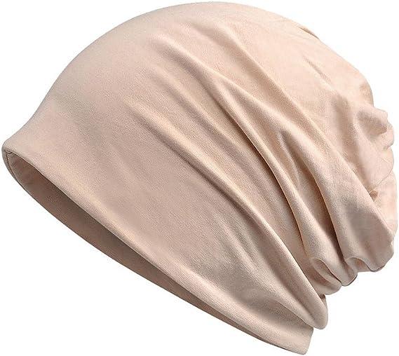 Organic cotton beige thin beanie hat for summer