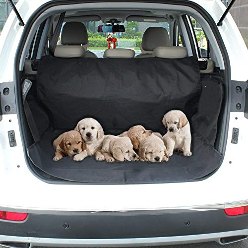 Aplus Car Boot Cover for Dogs Waterproof Car Boot Liner Protector – Non Slip Cover Mat with Side Protection – Universal fits All Cars