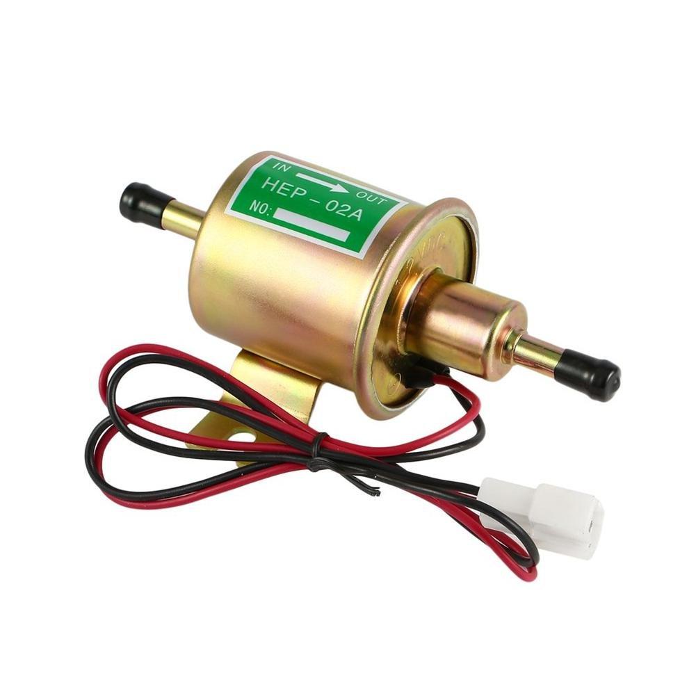Portable 12V Pompe à Essence électrique Universelle 3psi-5psi Pompe à Essence Pompe de Transfert d'huile à Basse Pression HEP-02A Welltobuy