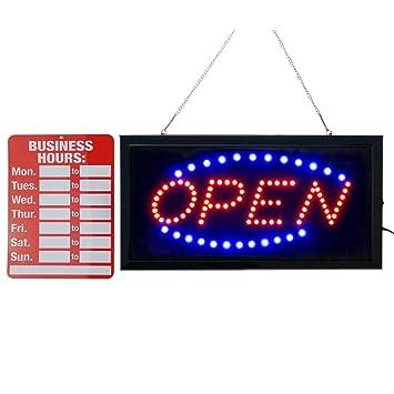 Amazon.com: Letrero de neón LED abierto, señal de apertura ...