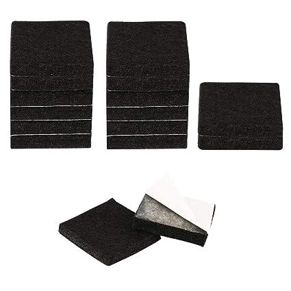 Uxcell 48pcs Furniture Pads Square 1 1 4 Self Stick Anti Scratch