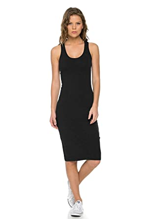 Black Cotton Tank Dress