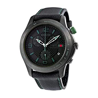 7f867c7bf29 Amazon.com  Gucci G-Timeless Chronograph Black Dial Men s Watch ...