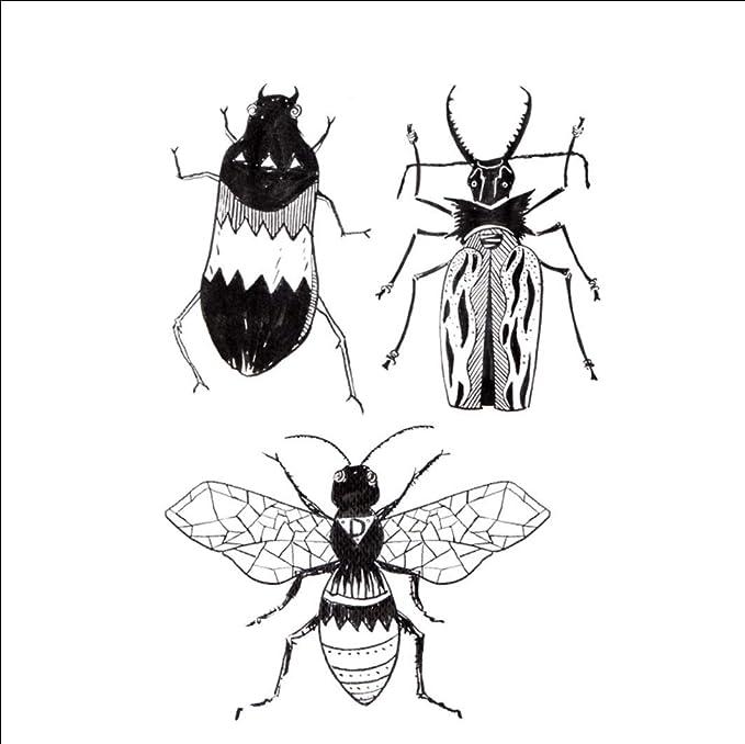 Ruofengpuzi Adesivo Tatuaggiooriginal Favorito Gran Escarabajo ...