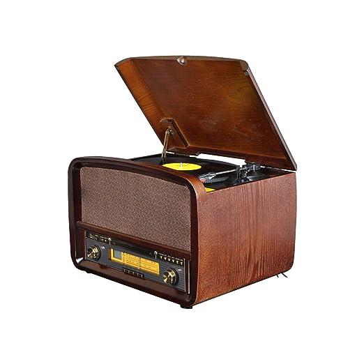 HYLH Reproductor de Discos de Vinilo, Apariencia de Radio Retro ...