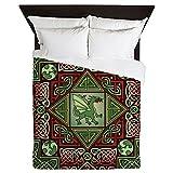 CafePress - Celtic Dragon Labyrinth Queen Duvet Cover - Queen Duvet Cover, Printed Comforter Cover, Unique Bedding, Microfiber
